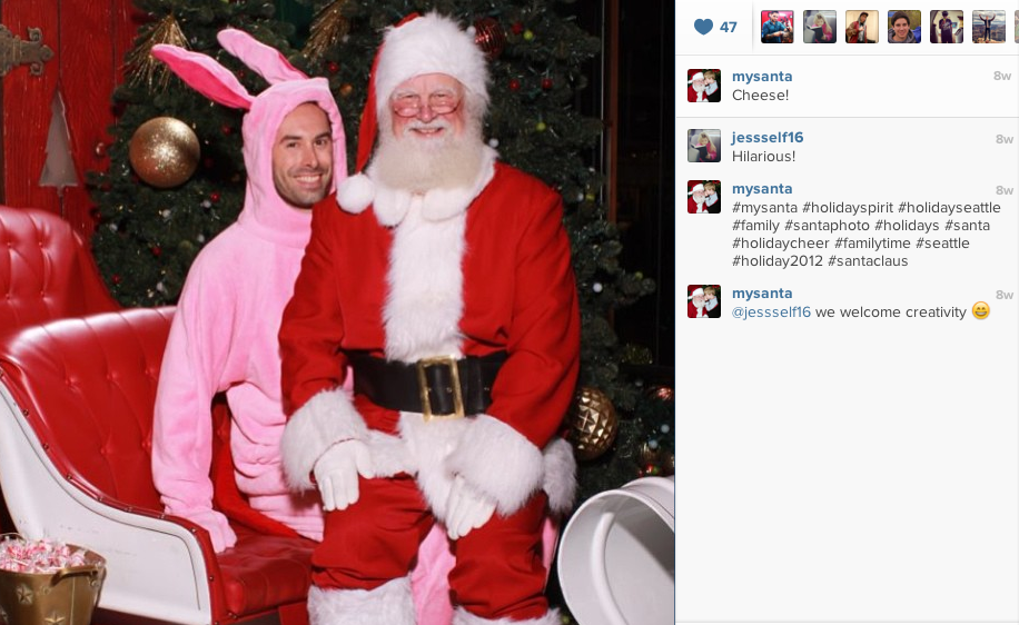 Santa on Instagram