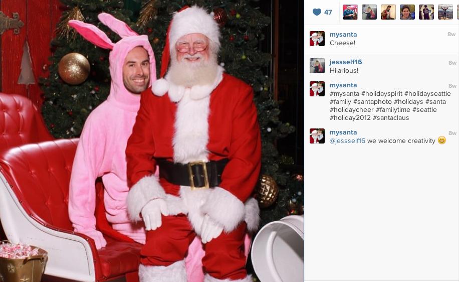 Santa on Instagram