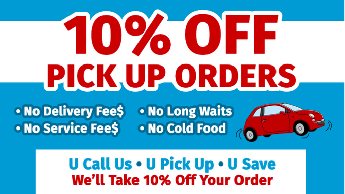 10% off pick up orders at Neighborhood Grills.