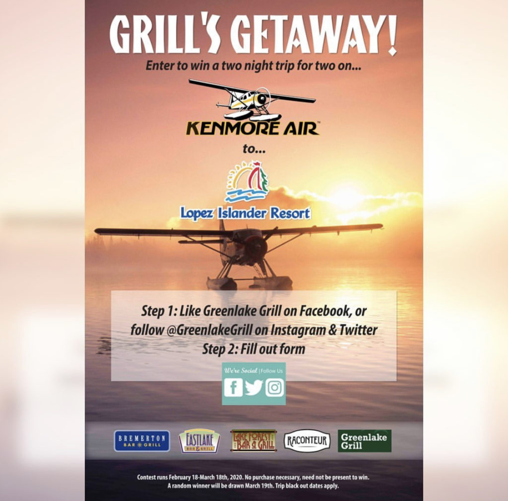 Greenlake Grill Giveaway to Lopez Island
